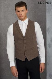 Skopes Herringbone Tweed Waistcoat