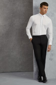 Skopes Dermot Flat Front Satin Trim Trouser