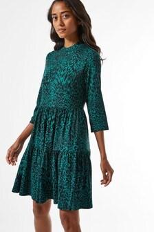 Dorothy Perkins Petite Animal Print Jersey Smock Dress