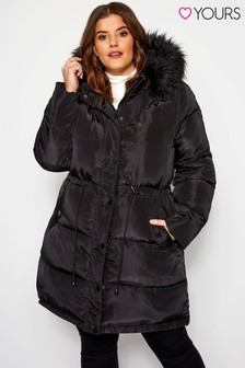 Yours Curve Padded Jacket