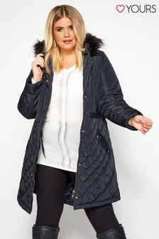 Yours Quilted Parka Jacket