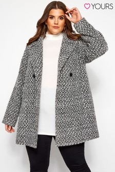 Yours Textured Check Coat