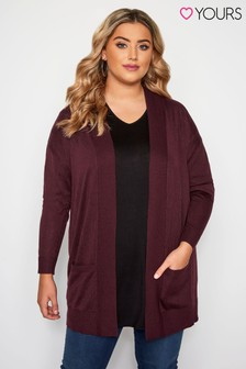 Yours Curve Light Weight Rib Cardigan