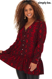 Simply Be Frill Hem Smock Tunic