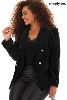 Simply Be Velour Trophy Blazer
