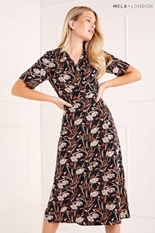 Mela London Printed Style Kimono Wrap Dress