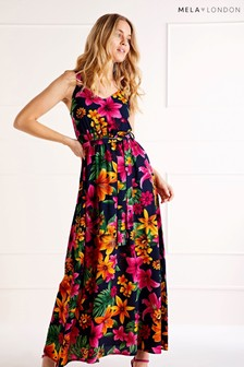 Mela London Tropical Print Maxi Dress