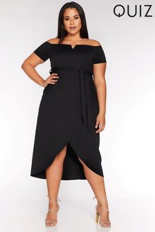 Quiz Curve V Bar Wrap Dress