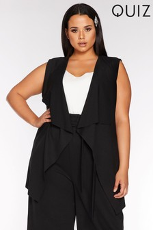 Quiz Curve Sleeveless Waterfall Jacket