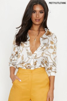 PrettyLittleThing Oversized Chain Shirt
