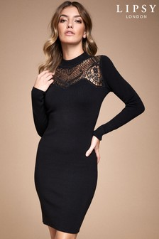 Lipsy Lace Yolk Bodycon Dress