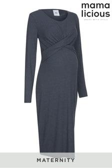 Mamalicious Maternity Twist Front Dress