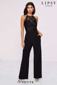 Lipsy Petite Sequin Organza Built Up Jumpsuit