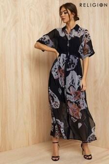 Religion Floral Print Maxi Dress