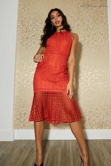 Little Mistress Kenton Pephem Midi Dress