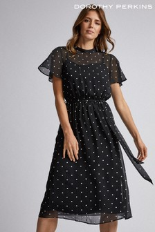 Dorothy Perkins Chiffon Belted Dress