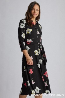 Dorothy Perkins Large Floral Shirt Dress