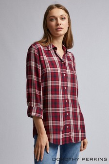 Dorothy Perkins Cotton Check Shirt