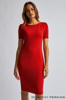 Dorothy Perkins Puff Sleeve Bodycon Dress