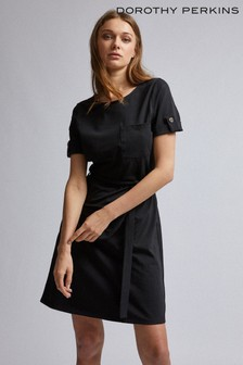 Dorothy Perkins Plain Tie T-Shirt Dress