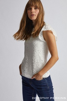 Dorothy Perkins Angel Sleeve Victorian Lace Blouse