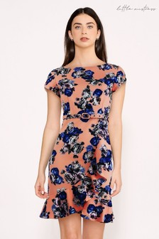 Little Mistress Banksia Floral Print Belted Bodycon Dress