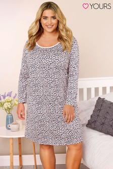 Yours Curve Animal Long Sleeve Nightdress