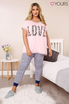 Yours Curve Animal Short Sleeve PJ Set