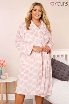 Yours Curve Heart Jacquard Shawl Robe