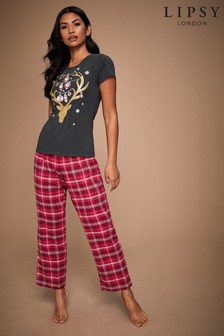 Lipsy Bauble Deer PJ Set