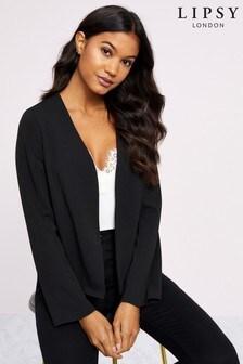 Lipsy Collarless Jersey Blazer