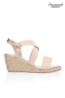 Savannah Cross Strap Wedge