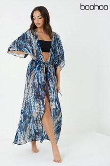 Boohoo Tie Die Maxi Kimono