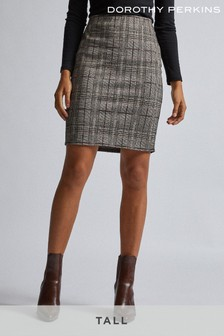 Dorothy Perkins Tall Check Mini Skirt