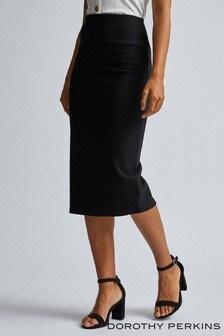 Dorothy Perkins Tall Textured Pencil Midi Skirt