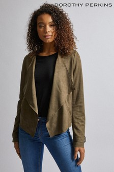 Dorothy Perkins Tall Suedette Waterfall Jacket