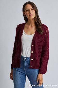 Dorothy Perkins Stitch Sleeve Button Cardigan