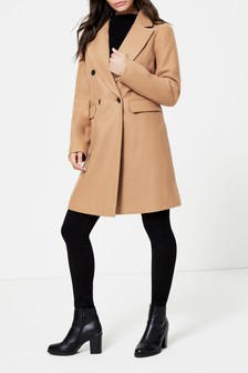 Dorothy Perkins Double Breasted Crombie Coat