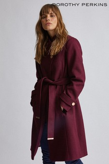 Dorothy Perkins Wrap Button Coat