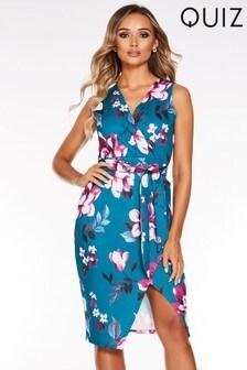 Quiz Floral Wrap Dress