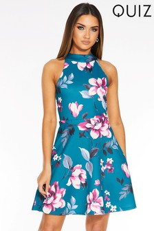 Quiz Floral Print Skater Dress