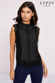 Lipsy Lace Trim Shell Top