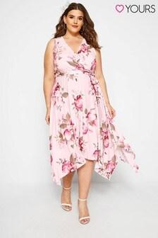 Yours Curve Floral Wrap Dress