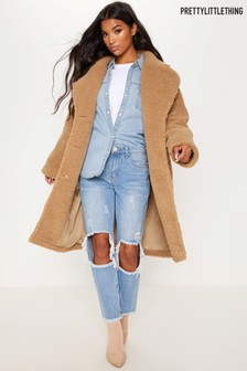 PrettyLittleThing Teddy Coat