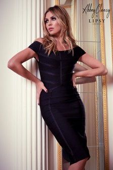 Abbey Clancy x Lipsy Bardot Bandage Dress