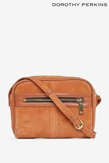 Dorothy Perkins Leather Zip Front Camera Crossbody Bag