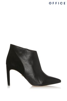 Office Leather Pointed Ankle Boot