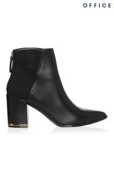Office Block Heel Ankle Boot
