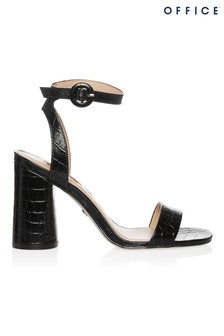 Office Croc Block Heel Sandal