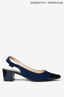 Dorothy Perkins Darling Sling Back Block Heel Court Shoe
